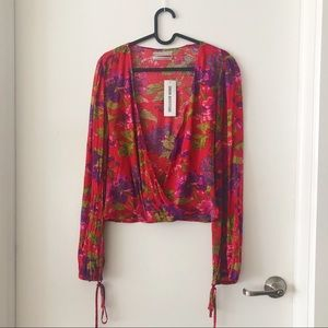 NWT UO Floral Blouse